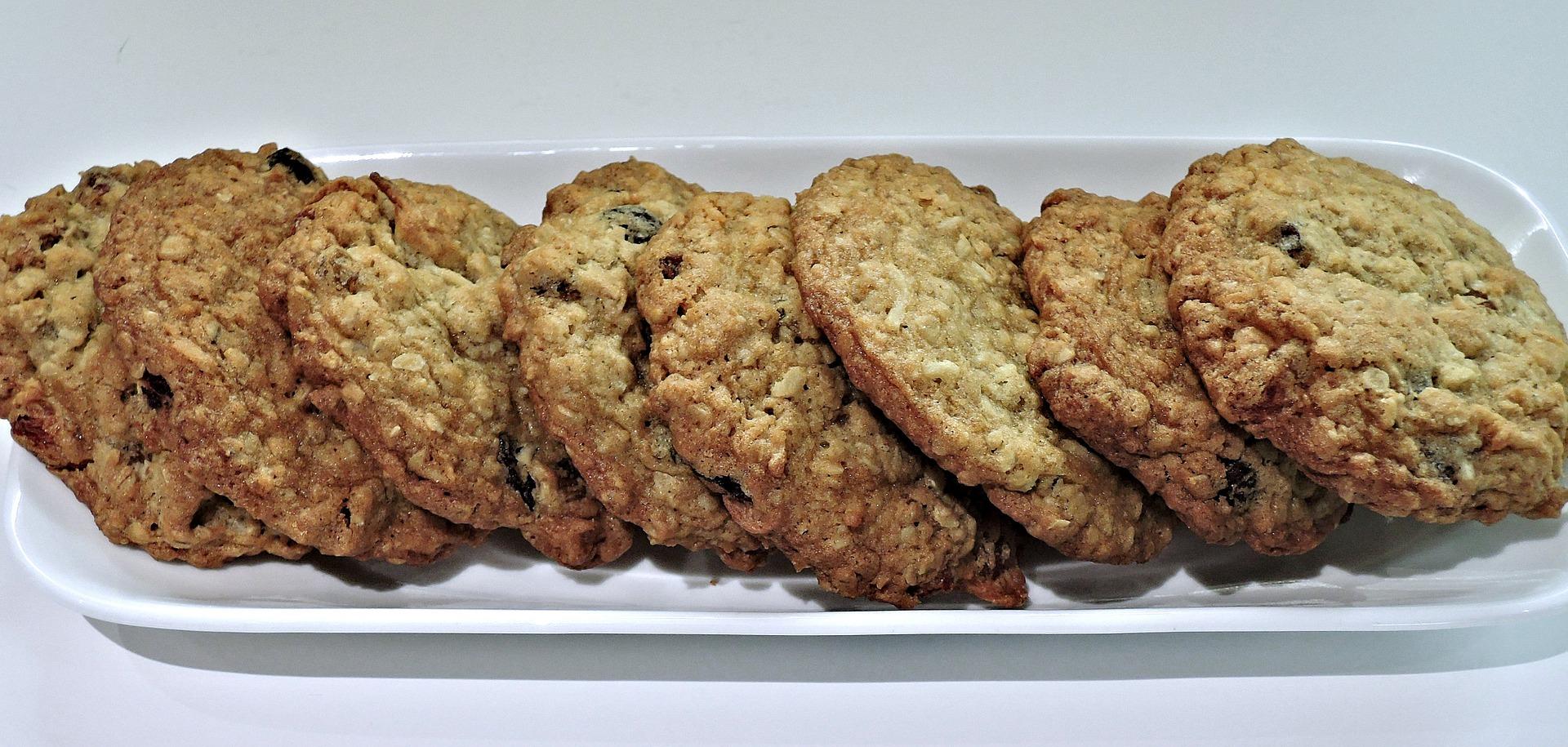 Schnelle Haferflocken-Bananen-Cookies
