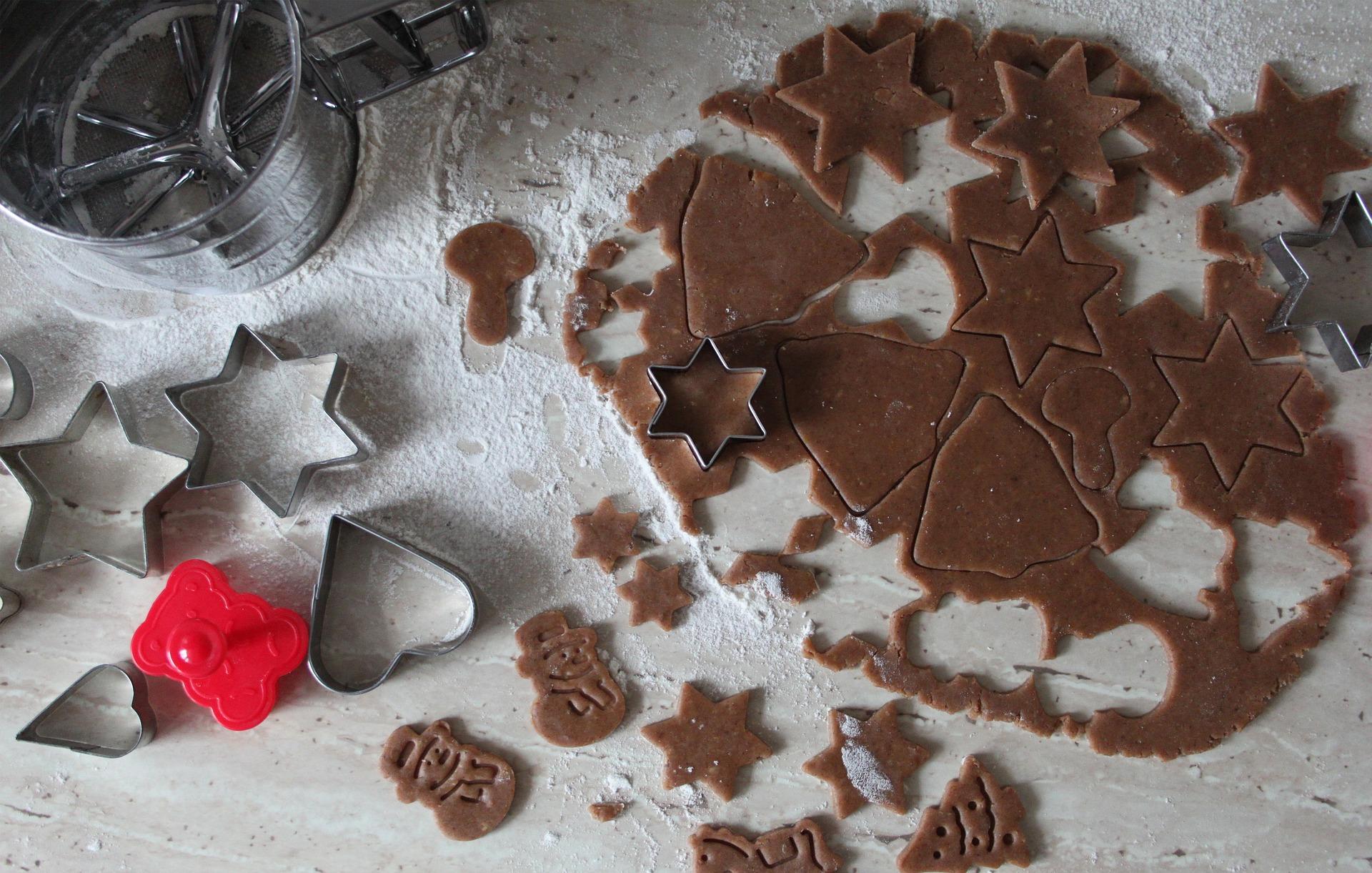Kakaoplätzchen mit weihnachtlichen Gewürzen