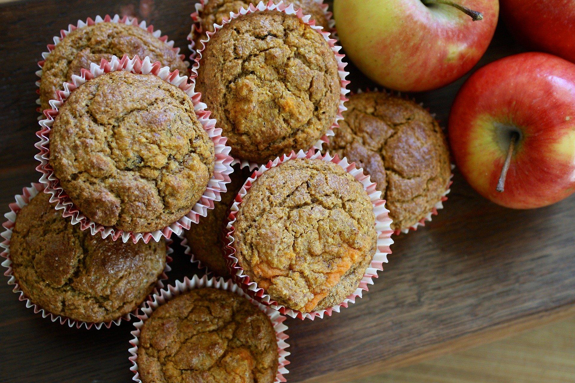 Apfel-Nussmuffins
